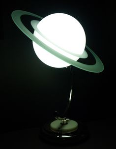 Art Deco Saturn Lamp - 1940s reproduction