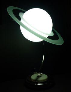 Art Deco Saturn Lamp - 1940s reproduction
