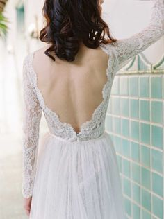 Ladies, prepare for a full swoon - these 18 breathtaking backless and detailed back dresses are simply TDF! Ethereal Wedding Dress, Wedding Dress Backs, Most Beautiful Wedding Dresses, Wedding Gowns, Lace Wedding, Wedding Venues, Wedding Ideas, Spring 2017 Wedding Dresses, Bridal Fashion Week