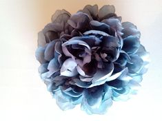 Large Peony - Vintage blue - millinery, millinery supplies, trim, races, hats, fascinators, wedding, hair accessories