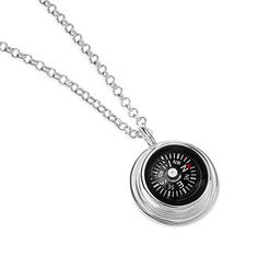 Surprise the adventurer in your life with this whimsical compass necklace from LeeAnn Herreid. Featuring a decorative compass on a sterling silver chain, the compass necklace is a wonderful accent that symbolizes adventure, exploration and the importance of the journey.