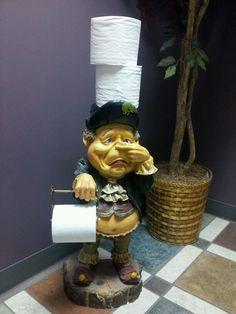 Funny Toilet Paper Holder, Toilet Paper Humor, Planter Pots, Cute, Toilet Humour, Kawaii