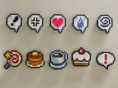Magnet/Pin sized bead sprites 2 by RedHerring1up, via Flickr