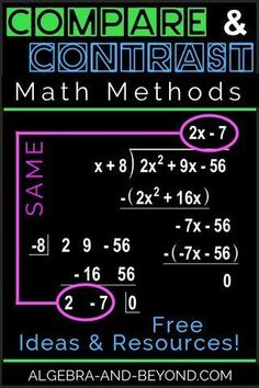 Compare and contrast different math methods to increase student comprehension. A way for students to naturally check their work!