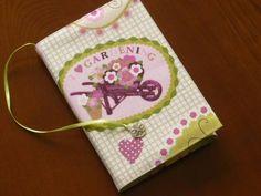 Book Cover ハンドメイド A6判左開き用ブックカバー SpringGarden インテリア 雑貨 Handmade ¥400yen 〆08月28日