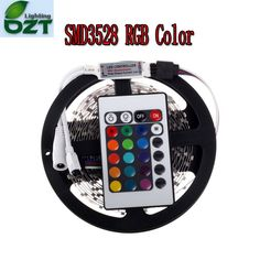 RGB LED Strip 5M 300Led 3528 SMD   24Key IR Remote Controller Flexible Light Led Tape DC 12V