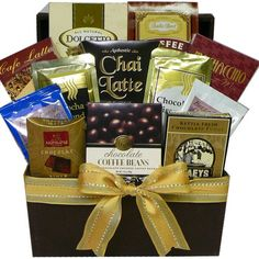 Coffee Gift Baskets - Art of Appreciation Gift Baskets Coffee, Cappuccino and Latte Lovers Gift Basket. Perfect for special event gifts, thank you gifts of appreciation, birthday presents or anytime you'd like to send a delicious gourmet gift that will be greatly appreciated by your java loving junkie.