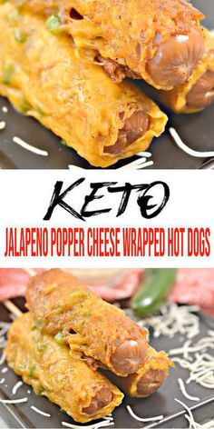 BEST Low Carb Keto Jalapeno Popper Cheese Wrapped Hot Dog Idea – Quick & Easy Ketogenic Diet Recipe – Completely Keto Friendly - Keto Recipes and Ideas - HotDog Free Keto Recipes, Hot Dog Recipes, Ketogenic Recipes, Low Carb Recipes, Diet Recipes, Healthy Recipes, Quick Recipes, Recipes Dinner, Dessert Recipes