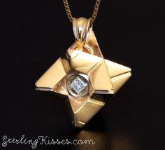 14kt Gold Destiny Ghost Pendant with Diamond