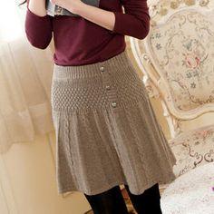 Cableknit skirt