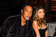 Scottie Pippen with his wife Larsa Pippen on March 16, 2016 in Miami...