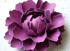 La peonía - flor de papel hecha a mano - set de 10 - tallos no incluido