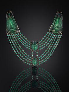 Lalique beetle necklace