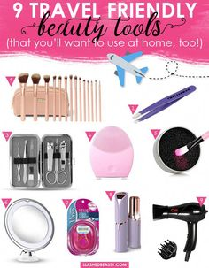 9 Travel Friendly Beauty Tools You Can Use in your Daily Routine | Slashed Beauty | You'll want to use these travel friendly beauy tools in your daily  routine, and they'll also cut down on packing anxiety and heavy luggage! #DailyBeautyTips Daily Beauty Tips, Best Beauty Tips, Beauty Hacks, Cat Eye Makeup, Makeup Kit, Makeup Tools, Beauty Makeup, Travel Beauty Routine, Affordable Makeup Brushes