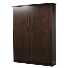 Murphy bed Queen Size, Midnight Espresso Color - Made By Murphy Wallbed USA #MurphyWallbedUSA #Modern