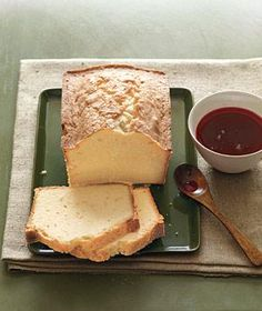 Citrus Pound Cake With Cranberry Syrup