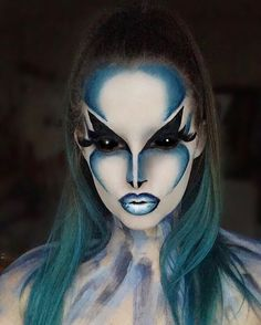 Amazing Halloween Makeup, Halloween Eyes, Cosplay Makeup, Costume Makeup, Alien Make-up, Helloween Make Up, Extreme Makeup, Fantasy Make Up, Character Makeup
