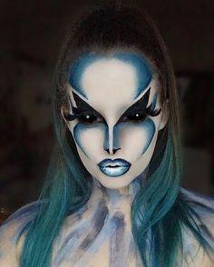 Cosplay Makeup, Costume Makeup, Alien Make-up, Helloween Make Up, Amazing Halloween Makeup, Extreme Makeup, Fantasy Make Up, Character Makeup, Creative Makeup Looks