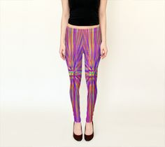 Color Burst Leggings by Peter Gross (Leggings)