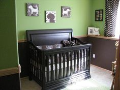 brown and green nursery theme