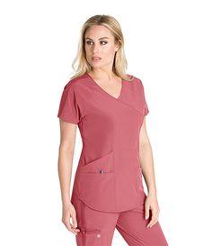 Barco One Wellness Surplice Top – Company Store Uniforms Scrub Suit Design, Dental Scrubs, Maternity Scrubs, Scrubs Pattern, Doctor Scrubs, Stylish Scrubs, Scrubs Outfit, Cute Scrubs, Womens Scrubs
