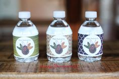 Perspective: Free Printable - Thanksgiving Water Labels