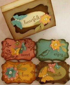 Stampin' Up! Four Frames stamp set - I really love adding these kinds of touches to things