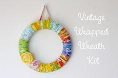 cute vintage sheet wreath