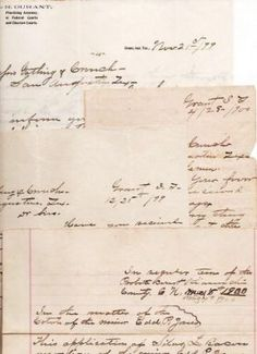 SMALL ARCHIVE, containing five (5) pieces of legal correspondence, all handwritten, regarding the Kiamichi County, Choctaw Nation, Probate Court. The Court is authorizing three lawyers (George E. Gatling and I.D. Crouch of San Augustine, TX; and A.R. Durant of Grant, Indian Territory, later Oklahoma) to recover property bequeathed to a minor child, Edd P. Jones. Indian Territory.