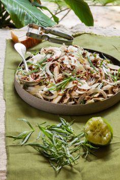 סלט אורז אדום בפטריות וטרגון+עוף עם אורז אדום