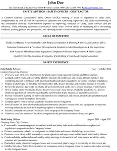 Safety And Occupational Health Specialist Sample Resume Extraordinary Idea  Safety Manager Resume 3 Occupational Health And .  Oil And Gas Resume
