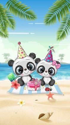 Open Fonts, Beach Wallpaper, Cute Panda, Cute Wallpapers, Disney Characters, Fictional Characters, Creative, Art, Bears