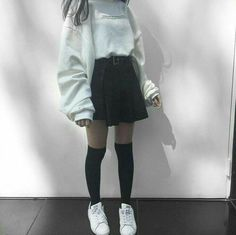 Korean Fashion Tips .Korean Fashion Tips Edgy Outfits, Cute Casual Outfits, Korean Outfits, Grunge Outfits, Girl Outfits, Fashion Outfits, Fasion, Fashion Tips, Fashion Ideas