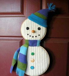 Good idea for old sweaters and wooden hoops from my 1980s craft box stash!