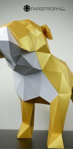 Paper SMALL Ram Trophy Head Polygonal Lowpoly
