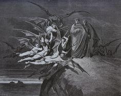 luxoccultapress:  Paul Gustave Doré - Devils and Virgil