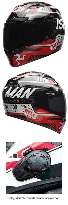 Other Helmets and Protection 177866: Bell Qualifier Dlx Unisex-Adult Full Face Street Helmet (Isle Of Man Black Red, -> BUY IT NOW ONLY: $310.49 on eBay!