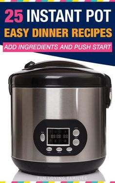 Use these Instant Pot easy dinner recipes for busy weeknights when you don't have time to cook for your family. All recipes are simple dump recipes, so you just add your ingredients and push start. Instant Crock Pot, Instant Pot Dinner Recipes, Easy Dinner Recipes, Easy Recipes, Instant Pot Pressure Cooker, Pressure Cooker Recipes, Pressure Cooking, Dump Recipes, Drink Recipes