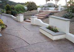 Walkway, Stairs, pillars by Davis Concrete - Murrieta CA - 951-461-7123
