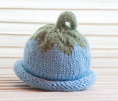 Baby Knit Hat Maine Blueberry Baby Hat by FrouFrouVtgClothing