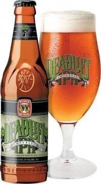 Cerveja Deadlift Imperial IPA, estilo Imperial / Double IPA, produzida por Widmer Brothers Brewing Company, Estados Unidos. 8.6% ABV de álcool.