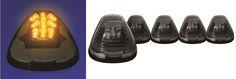Ford Super Duty 1999-2011 F250/350/450/550 Black W/ Amber Multi LED Cab Lights 5Pc Set