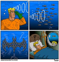 """Batman & Spongebob team up to haunt Aquaman for 60 years"" Batman Vs, Humor Batman, Bd Comics, Marvel Dc Comics, Funny Comics, Dc Memes, Funny Memes, Hilarious, Geeks"