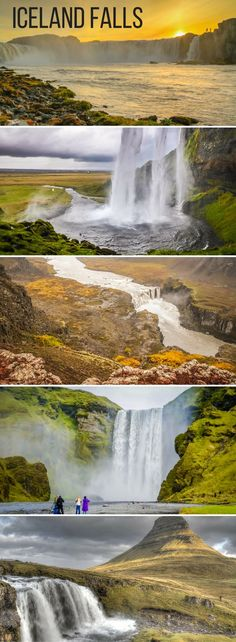 21 amazing Waterfalls in Iceland - Photos and Videos of the most majestic, the unusual, the largest falls... Includes the famous Seljalandsfoss and Skogafoss, as well as off the beaten track waterfalls - https://www.zigzagonearth.com/waterfalls-list-iceland/  | Iceland things to do | Iceland Scenery | Scenery & Wanderlust | Travel Inspiration | Iceland Travel