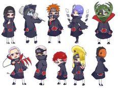 Akatsuki (Chibi) by AlfaMitsu on DeviantArt Naruto Kakashi, Anime Naruto, Naruto Akatsuki Funny, 5 Anime, Naruto Funny, Naruto Girls, Naruto Shippuden Anime, Gaara, Anime Chibi