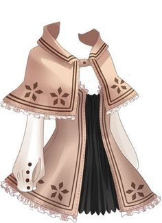 Drawing Anime Clothes, Manga Clothes, Anime Outfits, Girl Outfits, Fashion Outfits, Fashion Design Drawings, Fashion Sketches, Character Costumes, Character Outfits