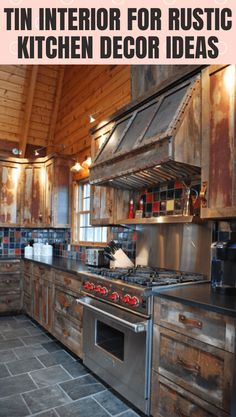 Get more ideas small kitchen decor ideas with tin interior here. Check it out. Kitchen Cabinets And Countertops, Rustic Kitchen Cabinets, Rustic Kitchen Decor, Kitchen Interior, Kitchen Ideas, Country Kitchen, Rustic Kitchens, Ranch Kitchen, Rustic Homes