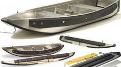 Instaboat has added a second canoe to its portable, collapsible aluminium boat range. The USD$1500 Fisherman weighs just 38 kg but offers a 245 kg carrying capacity and folds to just 16 cm wide, 3.45 metres long and 38 cm deep in two minutes. Canoe Boat, Kayak Boats, Canoe And Kayak, Pontoon Boat, Fishing Boats, Boat Dock, Jon Boat, Sailing Boat, Cool Boats