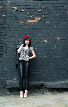 I like the leather pants and jacket Pin Up Vintage 300f32db854