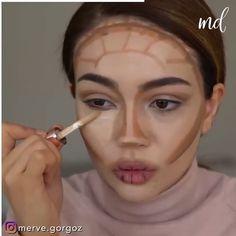 Eye Makeup Images, Eye Makeup Art, Eyebrow Makeup, Highlight Contour Makeup, Highlighting Contouring, Makeup Beauty Box, Makeup Tips, Deep Set Eyes Makeup, Model Makeup Tutorial